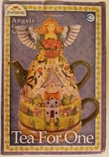 Jim Shore Four Seasons Angel Tea for One Teapot & Cup 3 Piece Set
