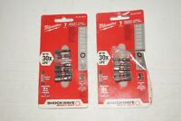 "Lot of 2 Milwaukee 48-32-4615 7 Piece TORX Shockwave 1"" Insert Bit Set"