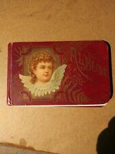 Antique Victorian Autograph Album Angel