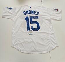 """Austin 'Scott' Barnes Signed Jersey """"1st Career HR/MLB Debut/Grand Slam"""" BAS 364"""