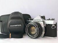 🟢Exc++++🟢Olympus OM-1 SLR Film Camera w/ Zuiko 50mm F/1.8 From Japan 628
