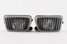 VW Golf MK2 89-92 Black Front Fog Lights Set Big Bumper Pair Driver Passenger