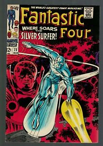 Marvel comics Fantastic four 72 1968 VFN 8.0 Classic Silver Surfer Cover
