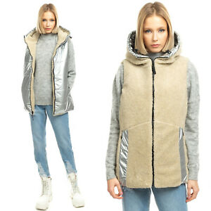 RRP €250 BOGNER FIRE + ICE Gilet Size M Sherpa Lined Metallic Made in Portugal