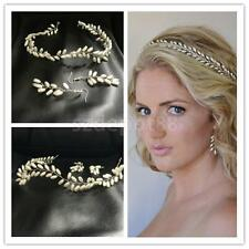Wedding Bridal Pearl Headband Hair Accessories Crown Tiara Earrings Jewelry