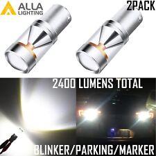 AllaLighting Turn Signal Blinker Light Bulb/Parking/Side Marker Lamp 6000K White
