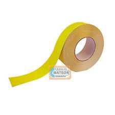 50mm x 20m Amarillo Antideslizante Cinta adhesiva muy Adherente trasera