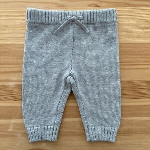 NWOT JANIE AND JACK Gray Sweater Pants Size 0-3 Months