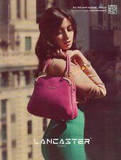 Publicité Advertising 2013  LANCASTER collection mode sac à main