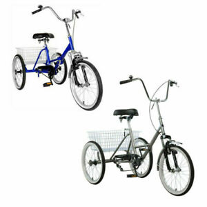 """Mantis Tri-Rad Adult Folding Tricycle  Bicycle Portable Tricycle 20"""" Wheels New"""
