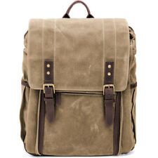 NEW ONA THE CAMPS BAY BACKPACK FIELD TAN FOR DSLR 7 LENSES LEATHER CAMERA BAG