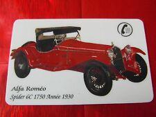 RARE TELECARTE SEPA - ALFA ROMEO SPIDER 6C 1750 - ANNEE 1930 - NF - 1000 EX