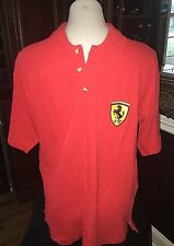 NWT Vintage Ferrari Spa Men's Polo Shirt Official Licensed Product 1995 Red M