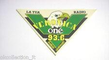 ADESIVO RADIO anni '80 / Old Sticker RADIO VERONICA TORINO AQUILA (cm 14 x 8)