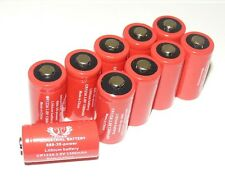 Tank  Replacement for Duracell Ultra DL123A,CR123A 3V Lithium Batteries X 10