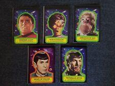1976 TOPPS STAR TREK CAPTAINS LOG STICKERS #3(2X),5,16,17,18 ( 6PCS) MINT COND