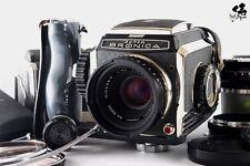 【SUPER RARE!!NEAR MINT】Zenza Bronica S W/Nikkor P 75mm, Nikkor H 5cm 50mm f/3.5