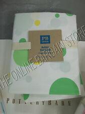 Pottery Barn Teen Bubble Dot Bed Dorm Sheets Set XL Twin Green Yellow 5% Organic