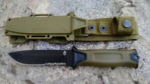 Gerber StrongArm Fixed Blade Knife Serrated Edge Green Tactical Survival