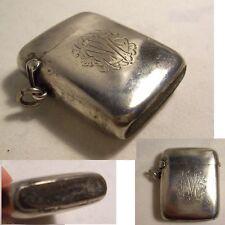 PYROGENE boite allumette ARGENT anglais 1908 HORTON ALLDAY chatelaine STRUB PAT.