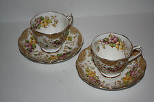 """Royal Albert Set of 2 Cups and Saucers """"Lovelace"""""""