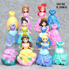 6pcs/Set Princess doll with Magic Clip Dress Kids Girls Favorite Toys Gift