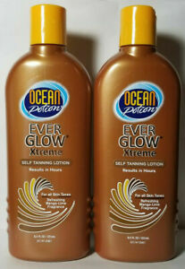 2 Ocean Potion Ever Glow Xtreme Self-Tanning Lotion Everglow Refreshing 8.5 oz