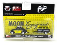 1:64 M2 Machines *MiJo* MOONEYES 1953 VW Beetle & Trailer Set *NIP*