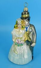 Polonaise By Kurt Adler Wedding Couple Blown Glass Ornament With Box Excellent