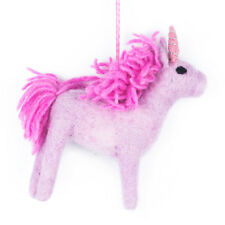 Fair Trade Pink Unicorn Christmas Tree Decoration Arctic Animal Festive Decor