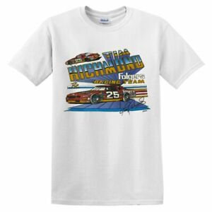Men's 1986 Vintage Tim Richmond Nascar Winston Cup T-Shirt Size S-5XL