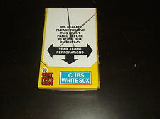 1981 TOPPS GIANT PHOTO CARDS BOX CHICAGO CUBS WHIRE SOX 36 UNOPENED PACKS