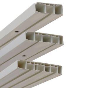GARDUNA Vorhangschiene weiss 1 / 2 / 3-läufig,  Kunststoff, gebohrt ab 120 cm