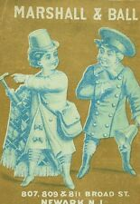 1870's-80's Lovely Marshall & Ball Newark Policeman Bell Spring Trade Card F82