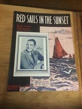 Vtg Sheet Music; Red Sails in the Sunset, Guy Lombardo 1935