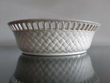 Antique Wedgwood 19th Century Creamware Basketweave Basket