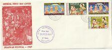 1969 Guyana oversize FDC cover Phagwah Festival