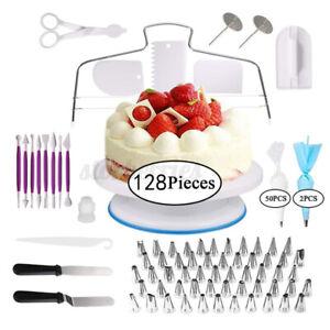 128pcs Cake Making DIY Tools Baking Supplies Kit Cake Decorating Icing Set Kit