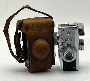 Vintage STEKY MODEL II SUBMINIATURE SPY CAMERA Japan w/ 16mm Film Spool & Case