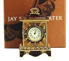 JAY STRONGWATER BRONZE CLOCK SWAROVSKI NEW ORIGINAL BOX MADE IN USA # 3