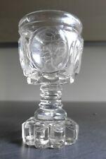 Glas Becher Fußbecher Pokal, handgeschliffen, Schlesien, um 1830  AL72