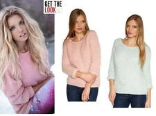 Striped 3/4 Sleeve Jumper & Cardigan Plus Size for Women
