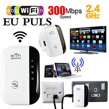 300Mbps Wifi Repeater Wireless-N 802.11 Router Extender Signal Booster EU Puls