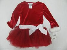 NEW NWT Bonnie Jean Red Dress Christmas Santa Faux Fur Toddlers Size 2T 2 $50