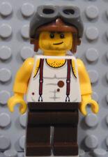 LEGO Minifig Adventurers Aviator Airplane Plane Pilot Mac McCloud with Helmet