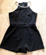 SEXY LADIES RIVER ISLAND BLACK WHITE PLAYSUIT - SIZE 14