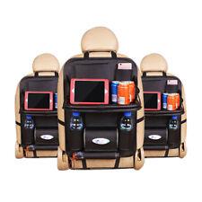 PU Leather Car Back Seat Holder Organizer Storage Table Tray Pocket Foldable