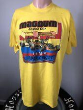 Vintage Magnum Engine Oils ISMA Super Modified Circuit T-Shirt XL 80's