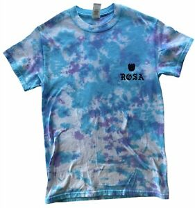 Small Rosa Unearthly Goods Tie Dye T-Shirt Double-Sided Grateful Dead Dizzy NWOT