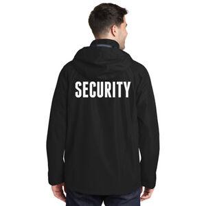 Security Jacket Hooded Waterproof Wind Resistant Guard EMT Uniform Rain Gear